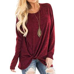 Womens Sexy Off Shoulder Sweater Casual Soft Long Sleeves O