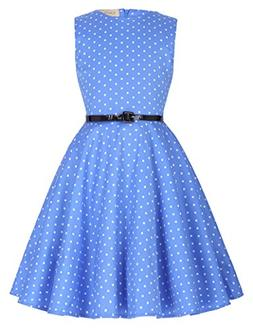 Kate Kasin Girls Wedding Party Dance Dresses 7-8yrs,Blue and