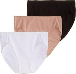 Hanes Ladies Smooth Illusions Hi Cut Panties 3 Pack, Style K