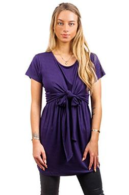 sofsy Soft-Touch Rayon Blend Tie Front Nursing & Maternity F