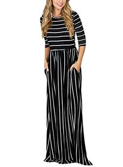 summer casual loose striped long
