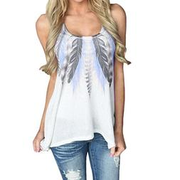 Gillberry Women Tops, Women Summer Lace Vest Top Short Sleev