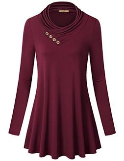 Miusey Womens Tunic Tops Ladies Long Sleeve Easy Fit Outdoor
