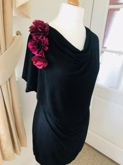 Next Unworn Black Maternity Top With Corsage, Size 12