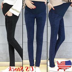 US Stock Maternity Clothes Pregnancy Long Pants For Pregnant