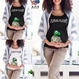 Women Maternity Easter Funny Cartoon T Shirt Short Sleeve To