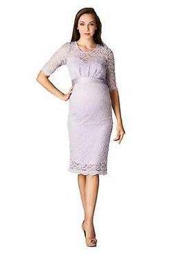 LaClef Women's Floral Lace Baby Shower Knee Length Maternity