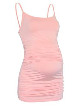 women s long length maternity camisole spaghetti