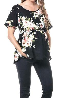 women s maternity loose fit pleated blouse