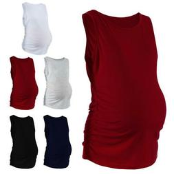 Womens Fashion Maternity Classic Side Ruched Pregnancy Cloth