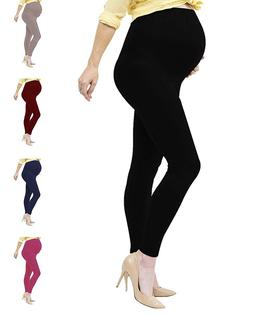 Womens Maternity Leggings Over The Belly Soft Stretch Pregna