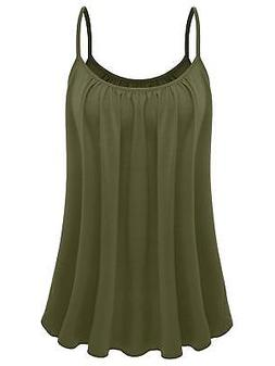 7th Element Womens Plus Size Cami Basic Camisole Tank Top